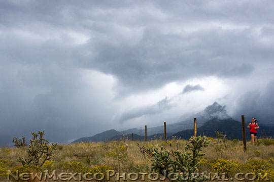 Storm in the Sandia foothills