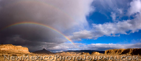 rainbow in the rio puerco basin