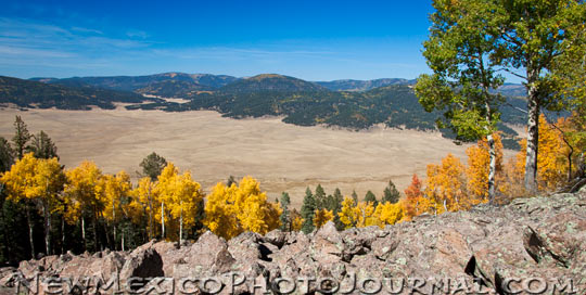 Valle Grande, one of the valles in Valles Caldera, seen from Rabbit Ridge