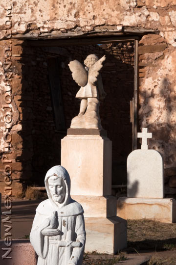 the graveyard at the old Santa Rosa de Lima chapel