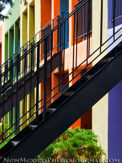 multi-colored apartments in Albuquerque