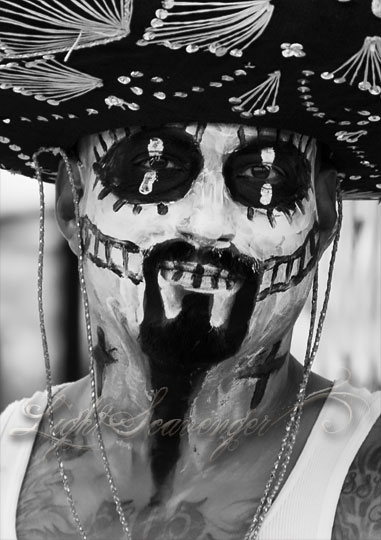 Calavera with Mariachi Hat