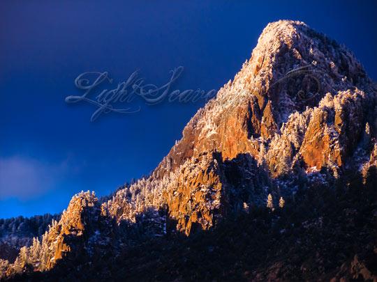 Sandia Mountains With Snow