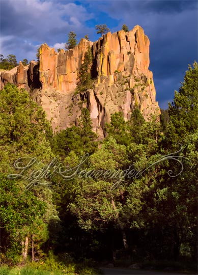 Battleship Rock in the Jemez