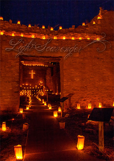 Luminarias at Jemez State Monument