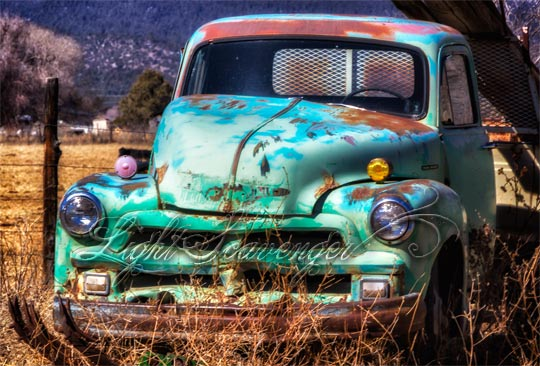 Old Turquoise Pickup