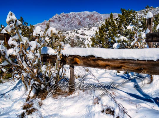 Corral and Sandias, covered in snow