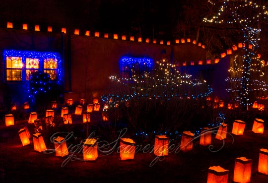 Luminarias on Christmas Eve