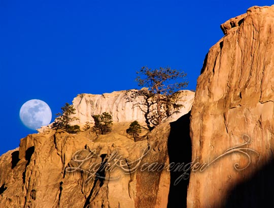 Moonrise Over Sandstone Bluffs