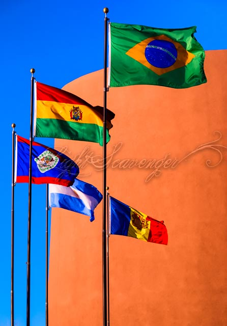 Flags at the National Hispanic Cultural Center