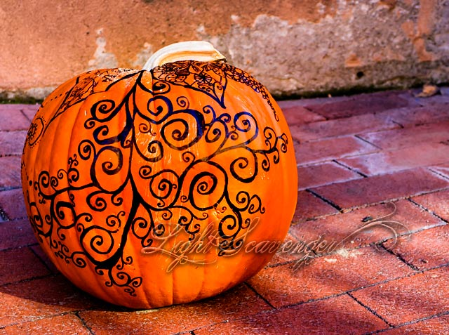Hand-Decorated Pumpkin