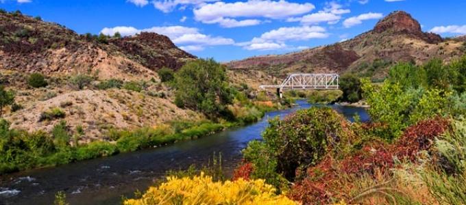 Taos Junction Bridge in Fall
