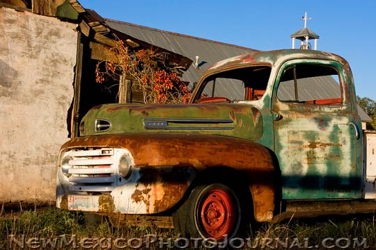 Old Pickup and Church