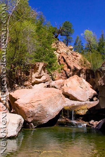 A rockfall in Box Canyon at Ghost Ranch