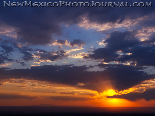 Clouds make for a beautiful sunset during the summer monsoon season