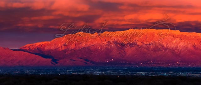 Wintry Sunset Over the Sandias