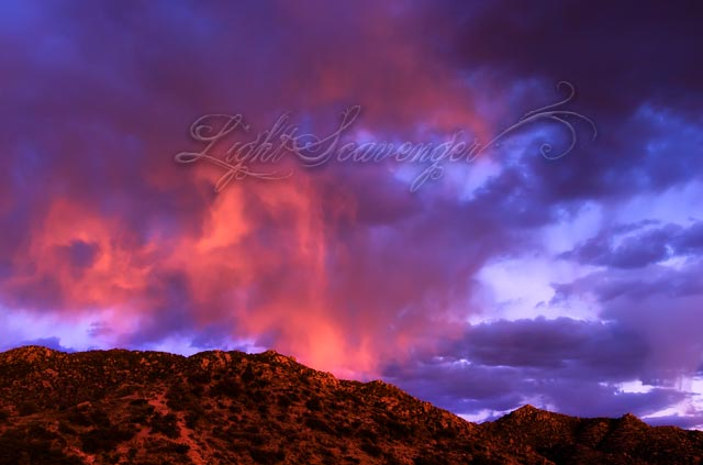 Last Light on the Foothills
