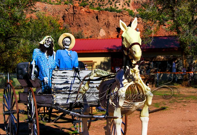 Halloween Horse and Buggy Ride