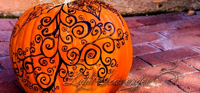 Hand-Decorated Pumpkin