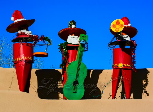 Christmas Musicians in Old Town Albuquerque