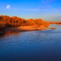 Moonset Over the Rio Grande