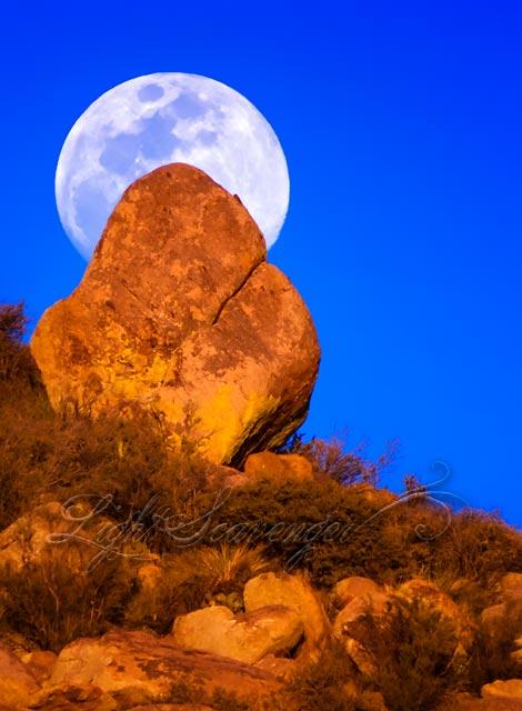 Full Moon Over the Sandia Foothills