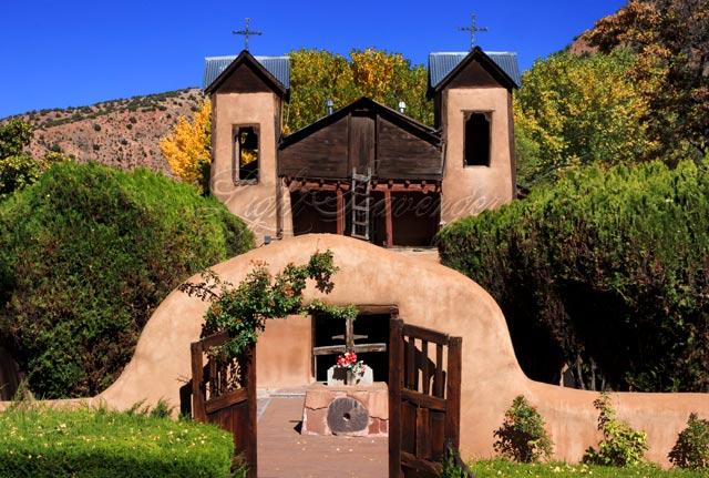 Santuario de Chimayó in Fall