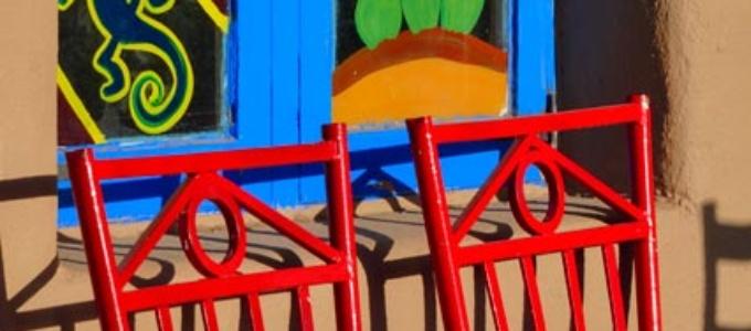 Red Chairs at La Hacienda